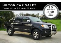TOYOTA HI LUX 3.0 D4D AUTO LC3****FINANCE AVAILABLE****(NOT L200 RANGER AMORAK SHOGUN JEEP PICK UP)