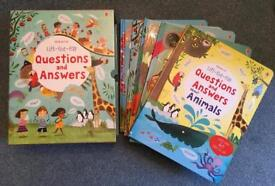 Brand new Usborne Lift the Flap Questions and Answers set