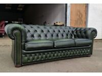 Antique green chesterfield sofa couch settee DELIVERY AVAILABLE