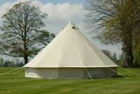 5m bell tent - almost new, used once. no damage rolled dry so no risk of moulding.