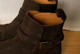 Meermin Jodhpur Brown Suede Leather Boots