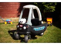 Little Tykes Rid eon Police car with footwell cover.