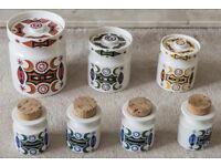 Portmeirion Pottery Very Rare Samarkand Storage and Spice Jars