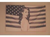 LANA DEL REY AMERICAN FLAG POP WALL ART