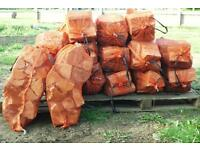 Logs and kindling at summer prices