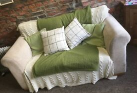 NEXT 2 seater cream oatmeal sofa