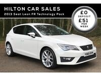 SEAT LEON FR TECHNOLOGY***CANDY WHITE***FINANCE AVAILABLE***