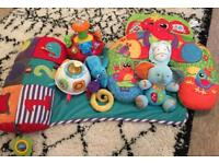 Bundle of baby toys VTech, Mamas and Papas tummy time play mat, support ring etc
