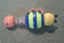 Baby bee rattle