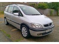 2003 Vauxhall Zafira 1.8 Elegance **7 Seater**New Mot**New Clutch**