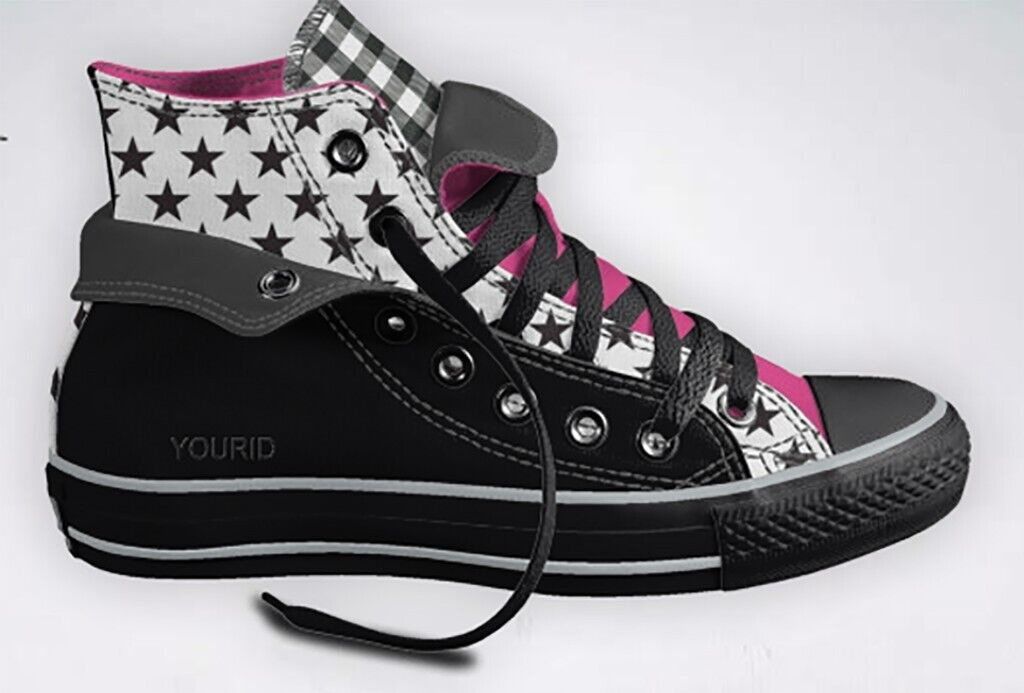 Converse All Star High Tops bespoke, size UK 6.5 | in Hackney, London | Gumtree