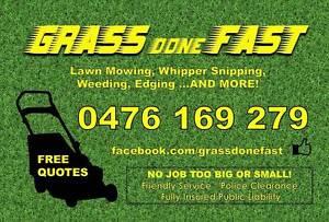 Grass Done Fast Rockingham Rockingham Area Preview