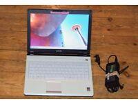 "SONY VAIO 14"" LAPTOP. 2GB RAM 250GB HDD INTEL PROCESSOR WINDOWS 10 MICROSOFT OFFICE"