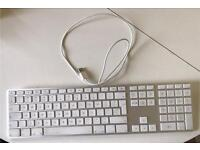 Apple Aluminium keyboard with numeric keypad