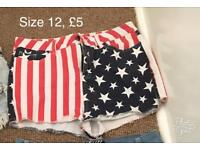 USA shorts size 12