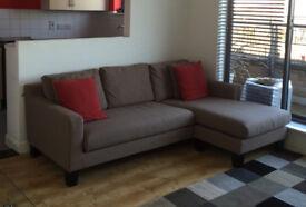 FOR SALE: 3-seater Ankara Sofa reversible corner sofa in great condition - £250 ONO