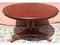 Victorian Mahogany Round Tilt Top Loo Table