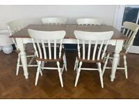 Mark's & Spencer Ashby Extending Dining Table & 6 Chairs (Farmhouse)