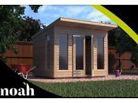 8x6 'Roseberry Summerhouse' Heavy Duty Wooden Garden Shed/Summerhouse