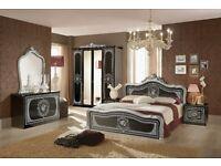 Alice Black and Silver Italian Bedroom suite