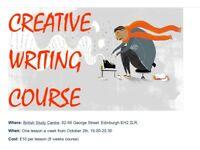 Creative writing course - Novels, short stories