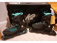 Ladies/girls K2 KINETIC 80 inline skates size 6/7 used once
