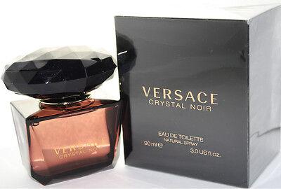Versace Crystal Noir By Versace 3.0 oz Women Eau de Toilette Spray New In Box  Crystal Noir Edp Spray