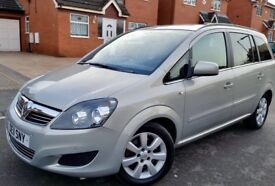 VAUXHALL ZAFIRA EXCLUSIVE 1.7 CDTI DIESEL 2011 FULL SERVICE HISTORY GREAT CONDITION 7 SEATER £3690