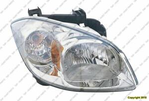 Head Lamp Passenger Side Smokey Housing With Clear Lens High Quality (With Bracket) Chevrolet Cobalt 2008-2010