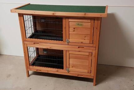 The Duplex. Double guinea pig cage hutch Can be used indoors
