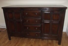 Ercol 'Old Colonial' style large sideboard.