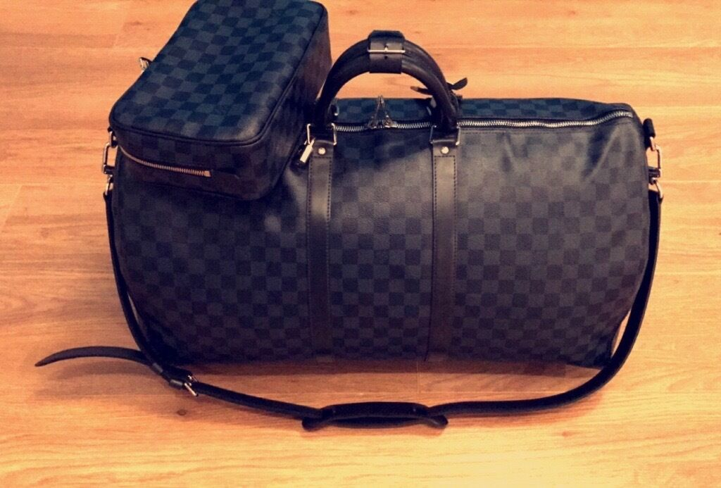181ff6c170cd 100% Genuine Unisex Louis Vuitton KEEPALL BANDOULIÈRE 55 Travel Bag Comes  With Proof Of Purchase