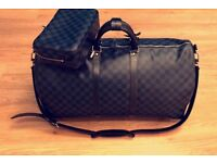 Real 100% Genuine Louis Vuitton KEEPALL BANDOULIÈRE 55 Travel Bag Comes With Full Proof Of Purchase