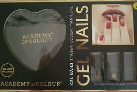 Academy of Colour GEL NAILS 2 WEEK MANICURE SET - NEW inCLUDING LAMP