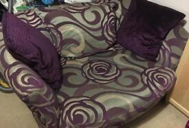 2 seat, cuddler sofa