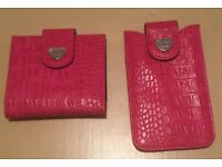 STORM - PINK Ladies Leather Purse & Leather Mobile Phone Wallet