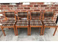 Set of 4 Schreiber Beech Dining Chairs - Belper, Derbyshire