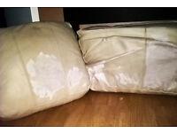 Old sofa cushions x 5 - Battered