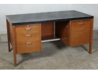 1960's Classic Teak Desk, Designed by Herbert Berry