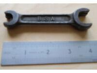 BSA 4 Way Multi Spanner, 3 Rifles Logo, Motorcycle Tool Kit Item