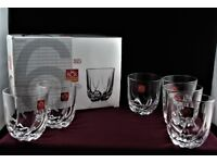6 Italian RCR Royal Crystal Rock Whisky Tumblers TRIX (Boxed)