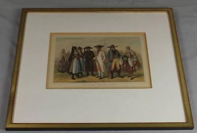 ältere Kostüm Grafik - Caucasian Race Norddeutsch Hannover , 1850 - gerahmt /209