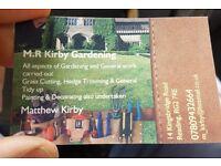 General garden maintenance / handyman