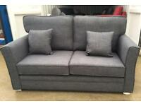 Argos Home Renley 2 Seater Fabric Sofa Charcoal New Ex Display