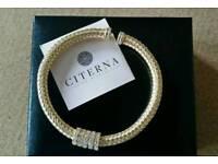 Citerna gold plated silver bracelet, hallmarked italian jewellery, RRP £89