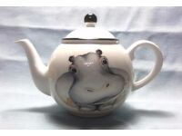 Hippo Teapot by Arthur Wood 2 Pint, Front to Back