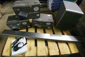 LG SH7 Soundbar with 3 x LG H3 Speakers - Music Flow Sync -Wireless - Multiroom - rrp £600+