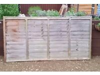 Fencing panels 4 x 3ft fencing panels and 1 x 4ft panel