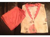 Ladies Designer Hanro Pyjamers Size L 100% Cotton