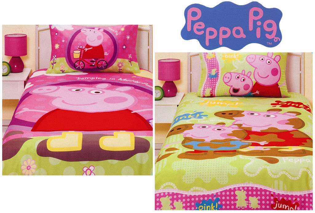 Peppa Pig Bedding Single Bed Size Quilt Cover Set Girls Boys Kids George Toy New
